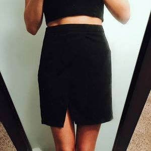 Tobi black wrap skirt